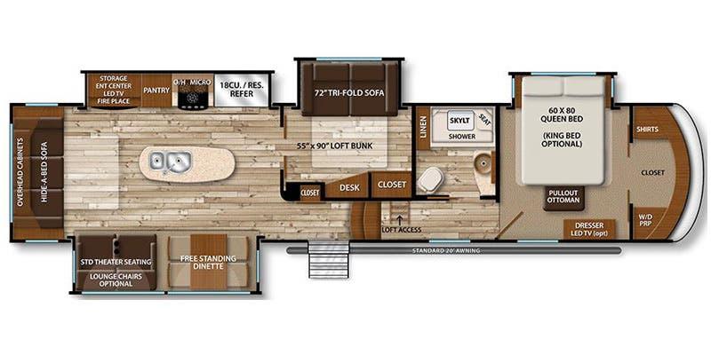 Full specs for 2017 grand design solitude 377mbs rvs - Grand design solitude floor plans ...