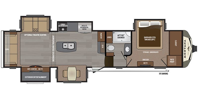 Full Specs For 2016 Keystone Montana 3661RL RVs