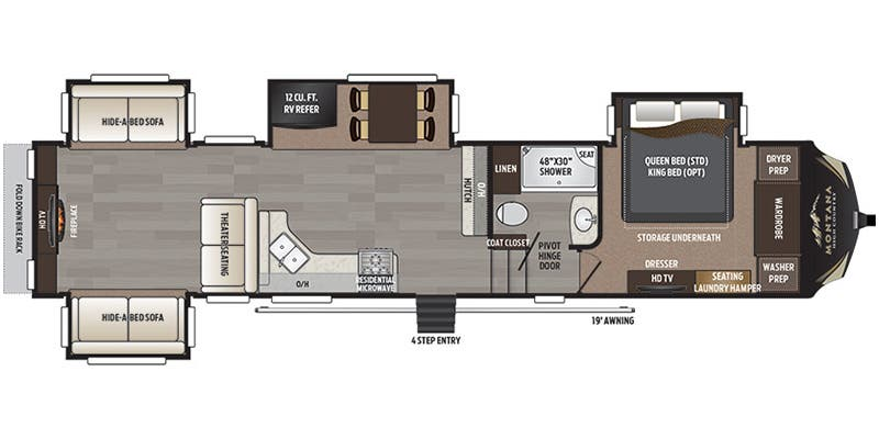 Full Specs For 2017 Keystone Montana High Country 378RD