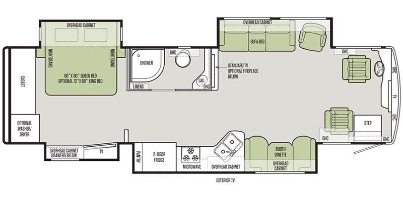 2019 Tiffin Allegro Red (Class A) Floorplans | Ancria RV
