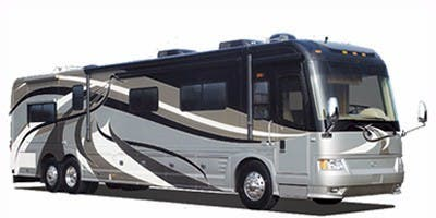 Find Specs for 2008 Country Coach - Intrigue <br>Floorplan: Jubilee (Triple Slide) (Class A)