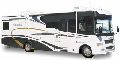 Find Specs for 2008 Gulf Stream - Yellowstone <br>Floorplan: 8327 (Class A)