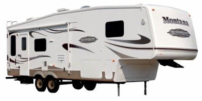 Find Specs for 2008 Keystone - Montana Mountaineer <br>Floorplan: 332PHT (Fifth Wheel)