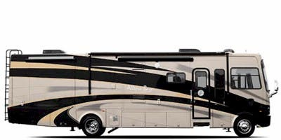 Find Specs for 2008 Tiffin - Allegro Bay <br>Floorplan: 38TGB (Class A)
