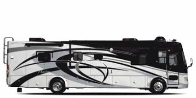 Find Specs for 2008 Tiffin - Phaeton <br>Floorplan: 40 QDH (Class A)