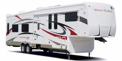 Find Specs for 2009 Holiday Rambler - Alumascape Suite <br>Floorplan: 34SKT (Fifth Wheel)