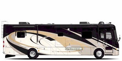 Find Specs for 2009 Tiffin - Allegro Bus <br>Floorplan: 40 QXP (Class A)