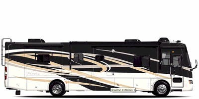 Find Specs for 2009 Tiffin - Phaeton <br>Floorplan: 40 QDH (Class A)