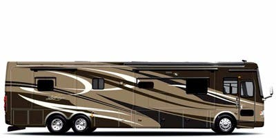 Find Specs for 2010 Tiffin - Zephyr <br>Floorplan: 45 QEZ (Class A)