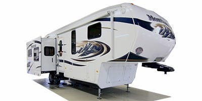 Find Specs for 2011 Keystone - Montana Hickory <br>Floorplan: 2955RL (Fifth Wheel)
