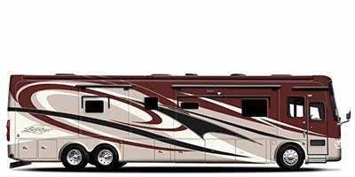 Find Specs for 2011 Tiffin - Zephyr <br>Floorplan: 45 QBZ (Class A)