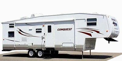 Find Specs for 2013 Gulf Stream - Conquest <br>Floorplan: 24FTBS (Fifth Wheel)