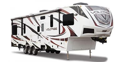 Find Specs for 2013 Dutchmen - Voltage <br>Floorplan: 3818 (Toy Hauler)