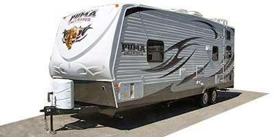 Find Specs for 2014 Palomino - Puma Unleashed <br>Floorplan: 25-TFS (Toy Hauler)