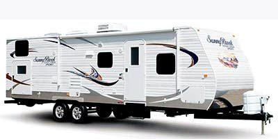 Find Specs for 2014 SunnyBrook - Sunset Creek Sport <br>Floorplan: 296 RE (Travel Trailer)