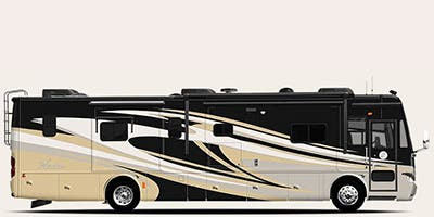 Find Specs for 2013 Tiffin - Phaeton <br>Floorplan: 42 LH (Class A)
