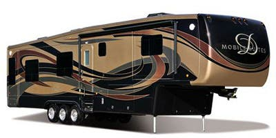 Find Specs for 2014 DRV - Mobile Suites <br>Floorplan: 32RS3 (Fifth Wheel)