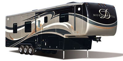 Find Specs for 2014 DRV - Mobile Suites <br>Floorplan: Full House 40LKSBG (Toy Hauler)