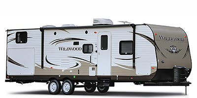 Find Specs for 2014 Forest River - Wildwood <br>Floorplan: 31BKIS (Travel Trailer)