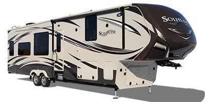 Find Specs for 2015 Grand Design - Solitude <br>Floorplan: 325X (Fifth Wheel)