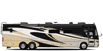 Find Specs for 2014 Tiffin - Phaeton <br>Floorplan: 40 QTH (Class A)