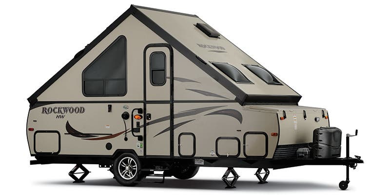 Find Specs for 2016 Forest River - Rockwood Hard Side <br>Floorplan: A128S (Expandable Trailer)