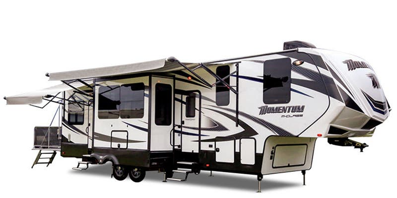 Find Specs for 2017 Grand Design - Momentum <br>Floorplan: 398M (Toy Hauler)