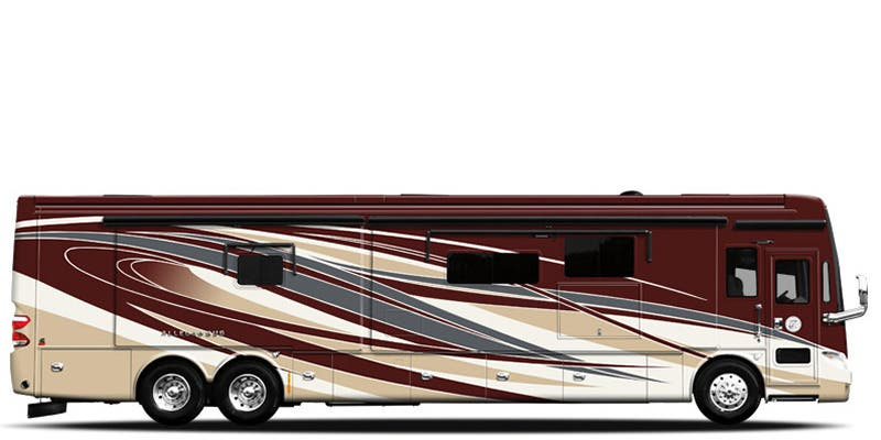 Find Specs for 2016 Tiffin - Allegro Bus <br>Floorplan: 45 UP (Class A)