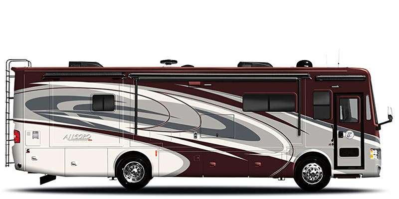 Find Specs for 2016 Tiffin - Allegro Red <br>Floorplan: 38 QBA (Class A)