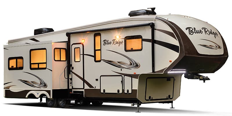 Find Specs for 2017 Forest River Blue Ridge Cabin Fifth Wheel RVs