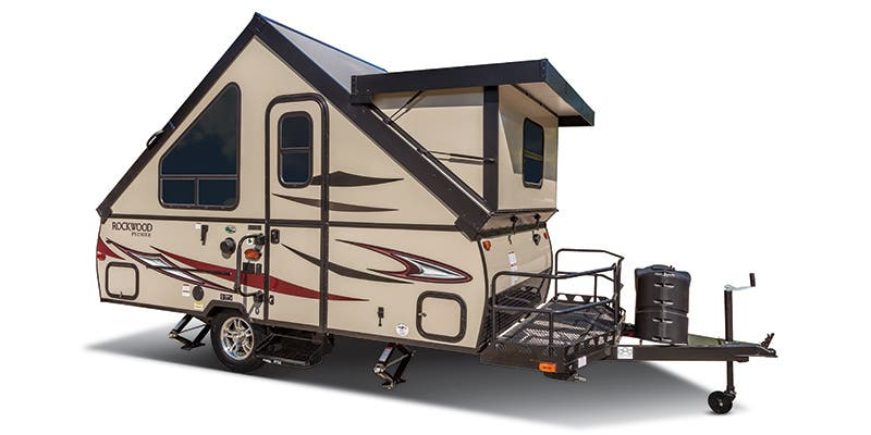 Find Specs for 2017 Forest River - Rockwood Hard Side <br>Floorplan: A215HW (Expandable Trailer)