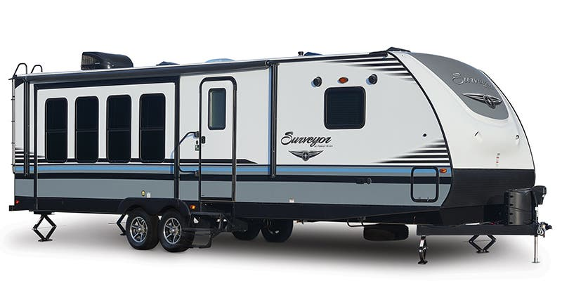 Find Specs for 2017 Forest River - Surveyor <br>Floorplan: 266RLDS (Travel Trailer)