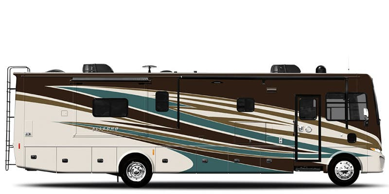 Find Specs for 2018 Tiffin - Allegro <br>Floorplan: 36 LA (Class A)