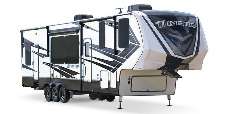 Find Specs for 2018 Grand Design - Momentum <br>Floorplan: 395M (Toy Hauler)