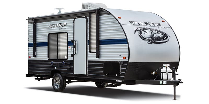 Find Specs for 2019 Forest River - Cherokee Wolf Pup <br>Floorplan: 18TO (Travel Trailer)