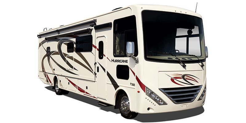 Find Specs for 2019 Thor Motor Coach - Hurricane <br>Floorplan: 29M (Class A)
