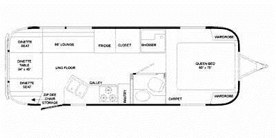 Find Specs for 2009 Airstream - Classic Limited <br>Floorplan: 27FB (Travel Trailer)