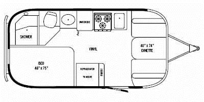 Find Specs for 2008 Airstream - International Ocean Breeze <br>Floorplan: 19 (Travel Trailer)
