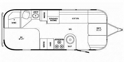 Find Specs for 2008 Airstream - International Signature <br>Floorplan: 23D (Travel Trailer)