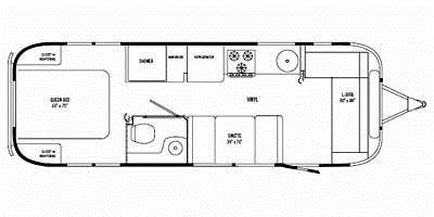 Find Specs for 2009 Airstream - International <br>Floorplan: 28 (Travel Trailer)