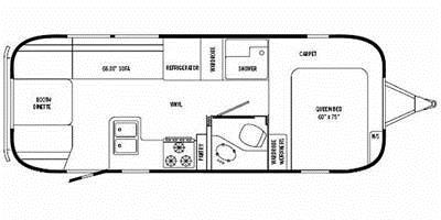 Find Specs for 2008 Airstream - Safari <br>Floorplan: 25FB (Travel Trailer)