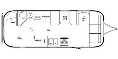 Find Specs for 2008 Airstream - Safari <br>Floorplan: 25SS (Travel Trailer)