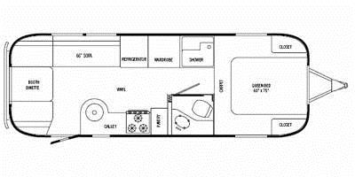Find Specs for 2008 Airstream - Safari <br>Floorplan: 27FB (Travel Trailer)