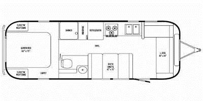 Find Specs for 2008 Airstream - Safari <br>Floorplan: 28 (Travel Trailer)