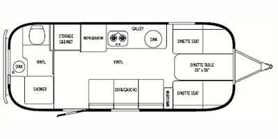 Find Specs for 2008 Airstream - Safari Sport <br>Floorplan: 22 (Travel Trailer)