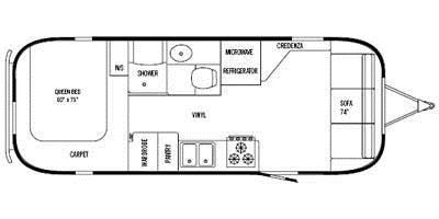 Find Specs for 2008 Airstream - Safari <br>Floorplan: 25 (Travel Trailer)