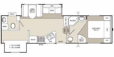 Find Specs for 2008 Coachmen - Chaparral Lite <br>Floorplan: 298RBS (Fifth Wheel)