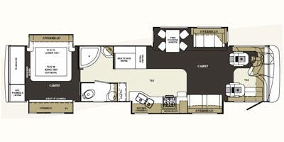 Find Specs for 2008 Forest River - Charleston <br>Floorplan: 405QS (Class A)