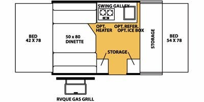 Find Specs for 2008 Forest River - Flagstaff <br>Floorplan: 176ST (Expandable Trailer)