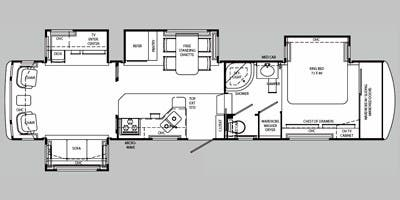 Full specs for 2008 holiday rambler presidential suite for Rv suites floor plan